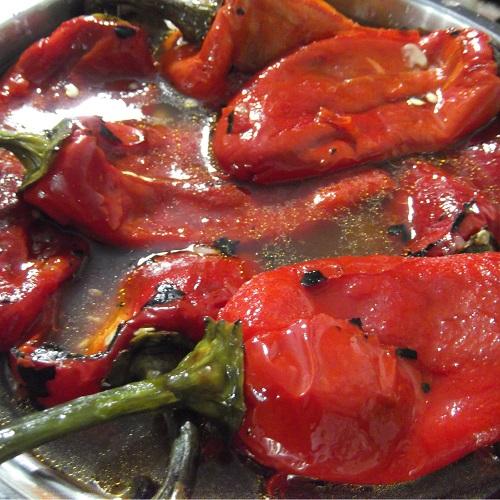 Печёный болгарский перец паприка