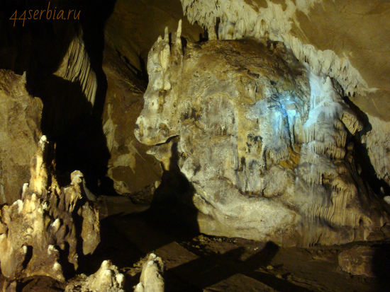 Лазарева пещера в Восточной Сербии: один из залов