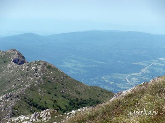 Горы в Сербии фото: Ртань, вид с вершины