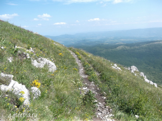 Тропа на гору Ртань