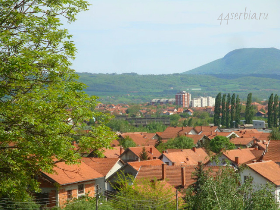 Город Заечар: вид на границу с Болгарией