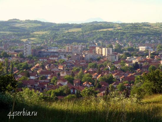 Город Заечар: вид с горы Кралевица
