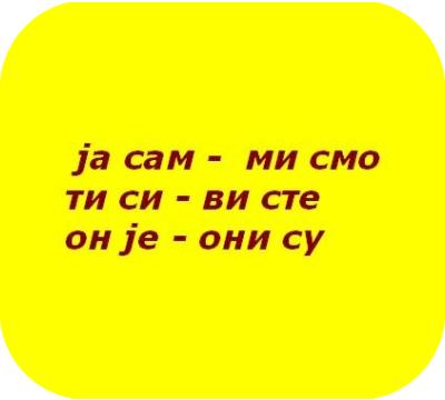 """Глагол """"Быть"""" в сербском языке"""