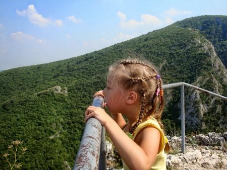 Ребёнок видит горы