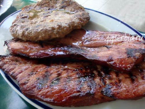 Сербский роштиль блюда