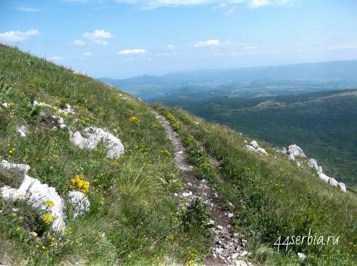 Подъём на гору Ртань, Сербия