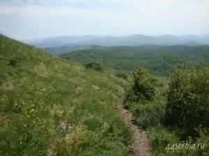 Подъём на гору Ртань, пейзажи