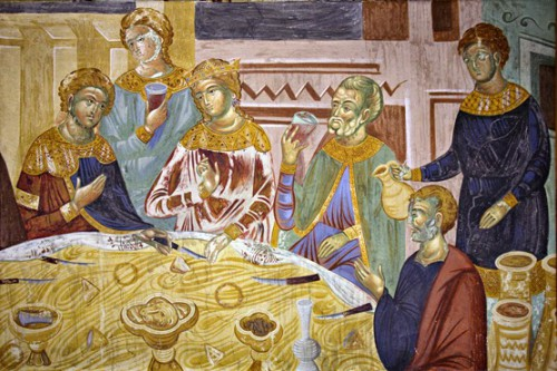 Средневековая трапеза в Сербии