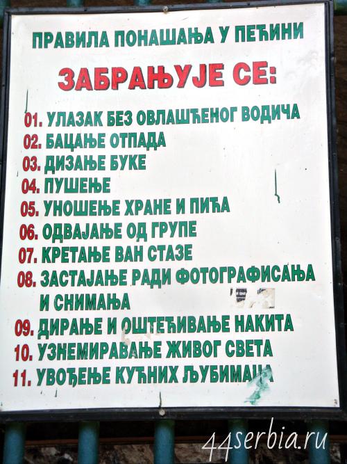 Правила на сербском языке