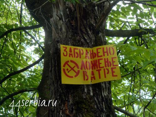 Не разжигать огонь на сербском языке
