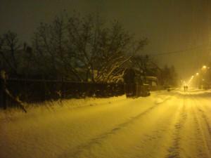 Зимняя Сербия ночь