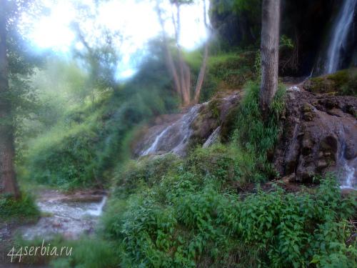 Водопад Бигар Восточная Серби фрагмент
