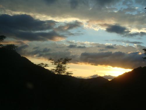 Небо по пути вечер