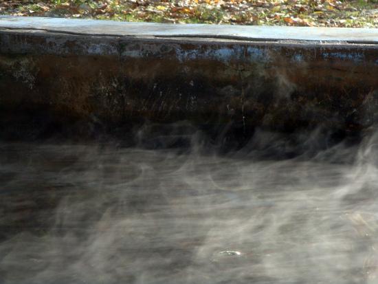 Купание в ноябре - термальный источник Николичево