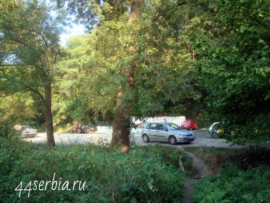 Возле бассейна в Николичево