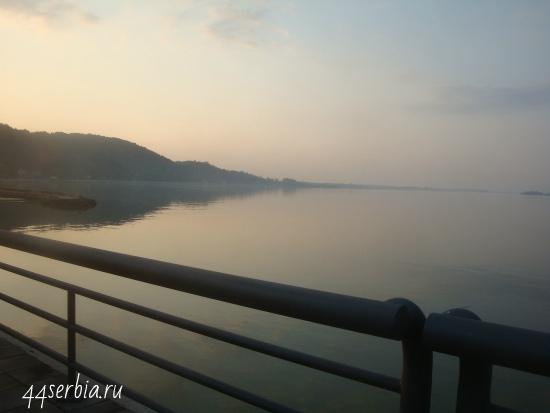 Дунай недаалеко от крепости Голубац