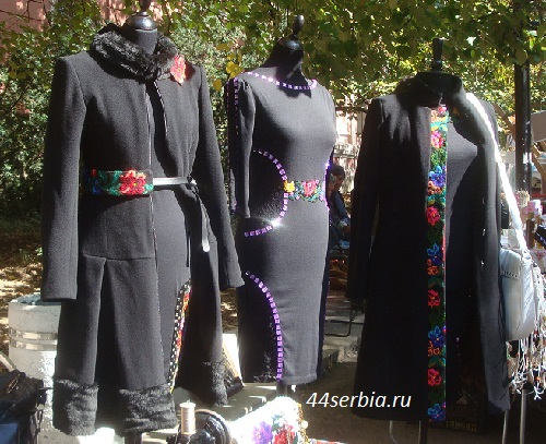 Одежда с сербским узором