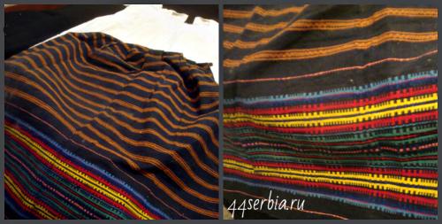 Сербская юбка с орнаментом