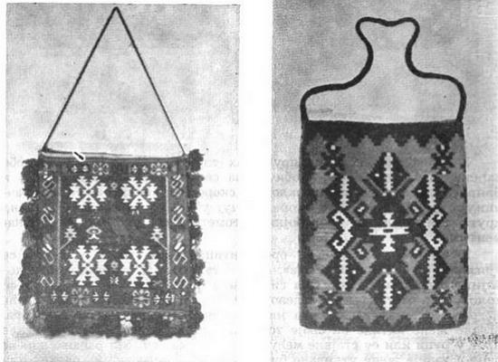 Сербские торбы с орнаментом
