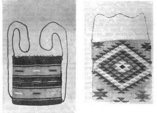 Сербские орнаменты на тканых сумках