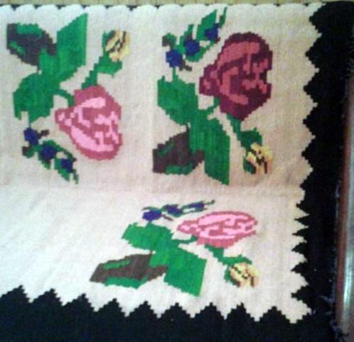 Сербский узор стилизованные цветы