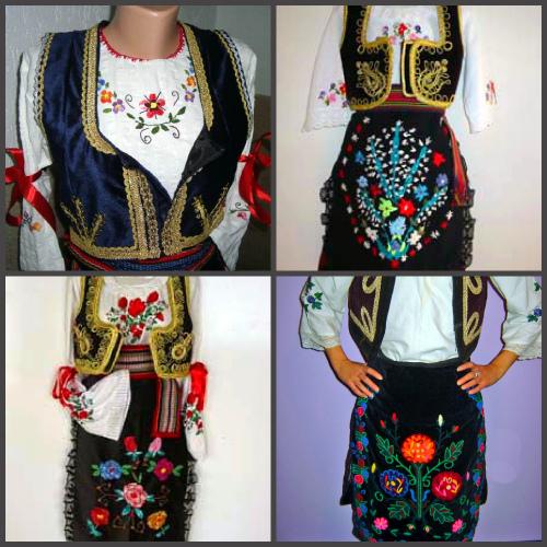 Сербский женский костюм, цветочный узор