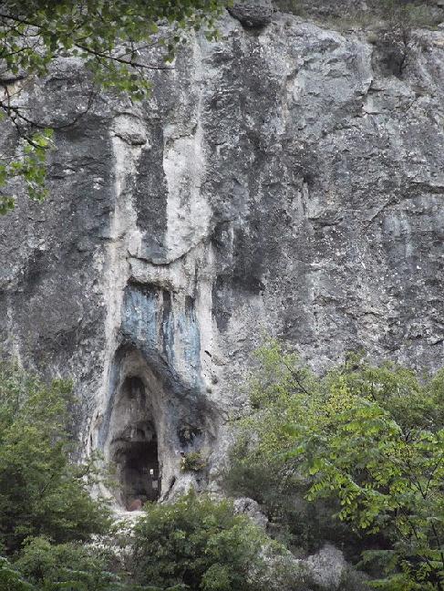Сокобаня Богородица в стене