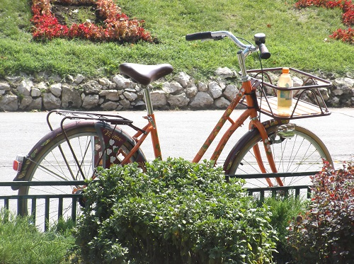 Велосипед с бутылочкой