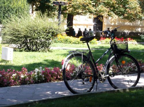 Велосиипед с сид на сквер