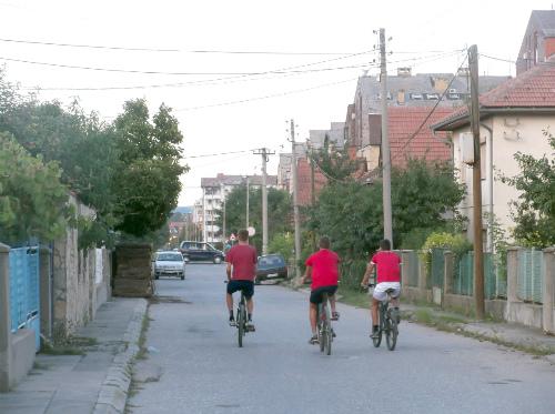 Ребята на велосипедах