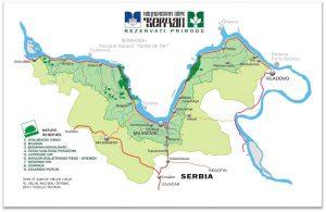 Карта Джердапского ущелья
