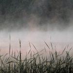 Дымка надо озером фото