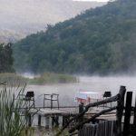 Утро на озере фото